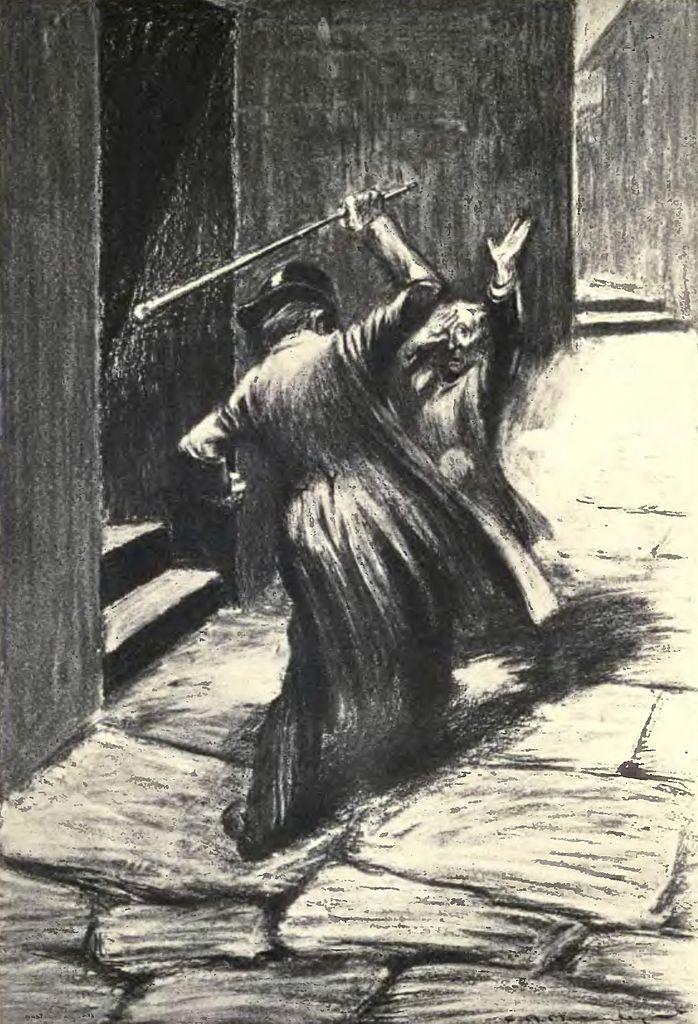 Иллюстрация к роману Р. Стивенсона «Странная история доктора Джекила и мистера Хайда». 1904