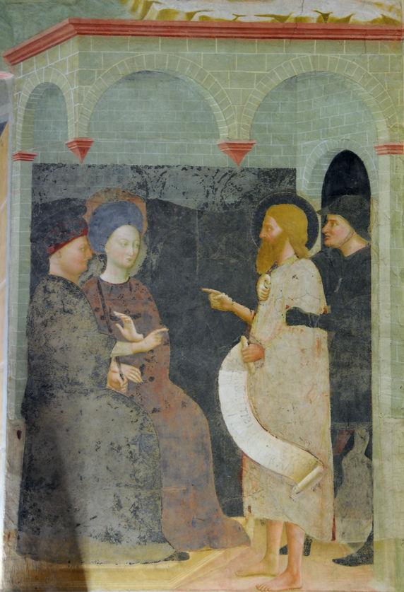 Иоанн Креститель обличает Ирода Антипу. 1435