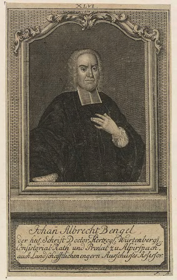 Иоганн Альбрехт Бенгель. XVIII в.