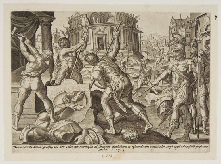 Иуда Маккавей побеждает врагов и очищает храм. 1574