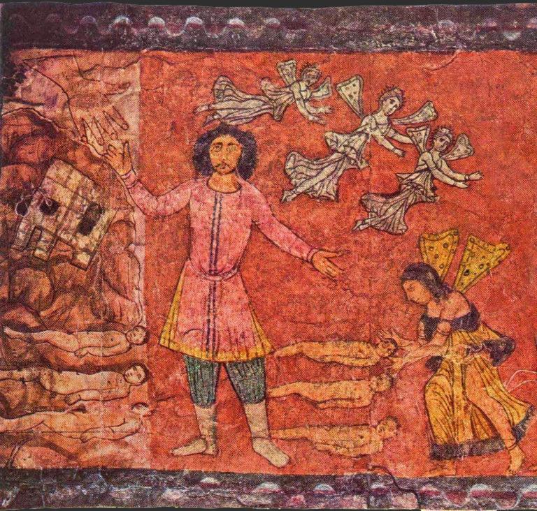 Изображения ангелов. 244-255 н.э.