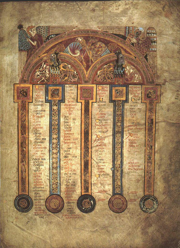Канонические таблицы Евсевия Кесарийского. Ок. 800