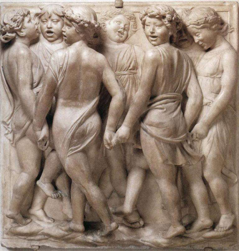 Кантория для собора Санта Мария дель Фьоре. Фрагмент. Танцующие отроки. 1431–1438