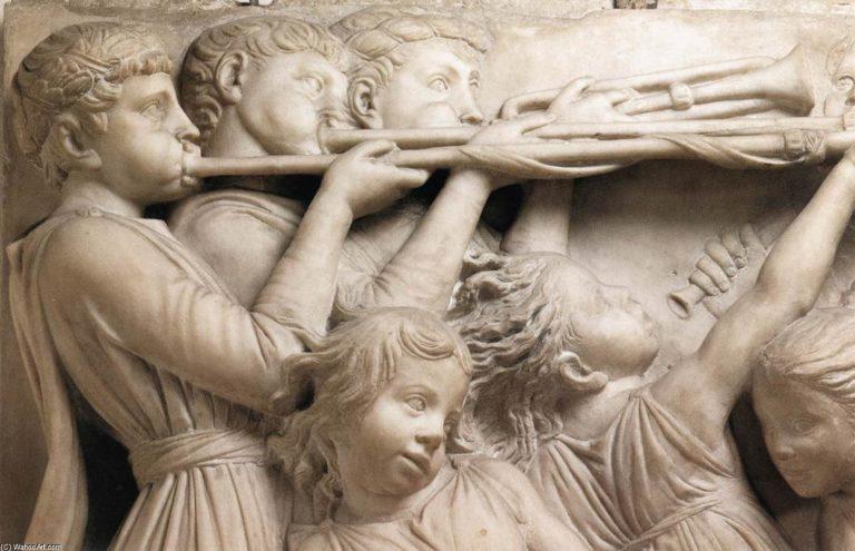 Кантория для собора Санта Мария дель Фьоре. Фрагмент. Трубачи. 1431–1438