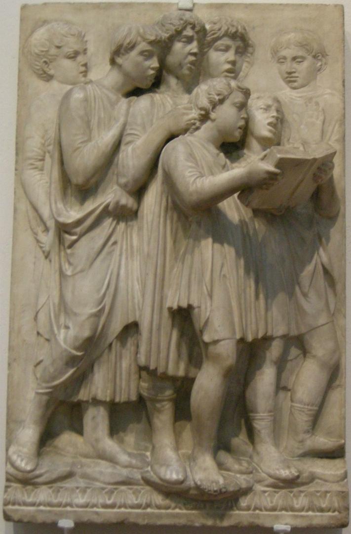 Кантория для собора Санта Мария дель Фьоре. Фрагмент. Певчие. 1431–1438
