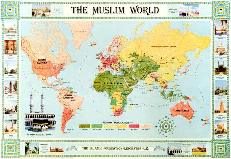 Карта мусульманского мира. 2005