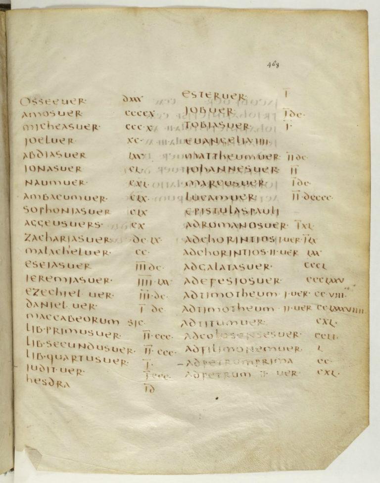 Клермонский канонический список со стихометрией. Ок. 400