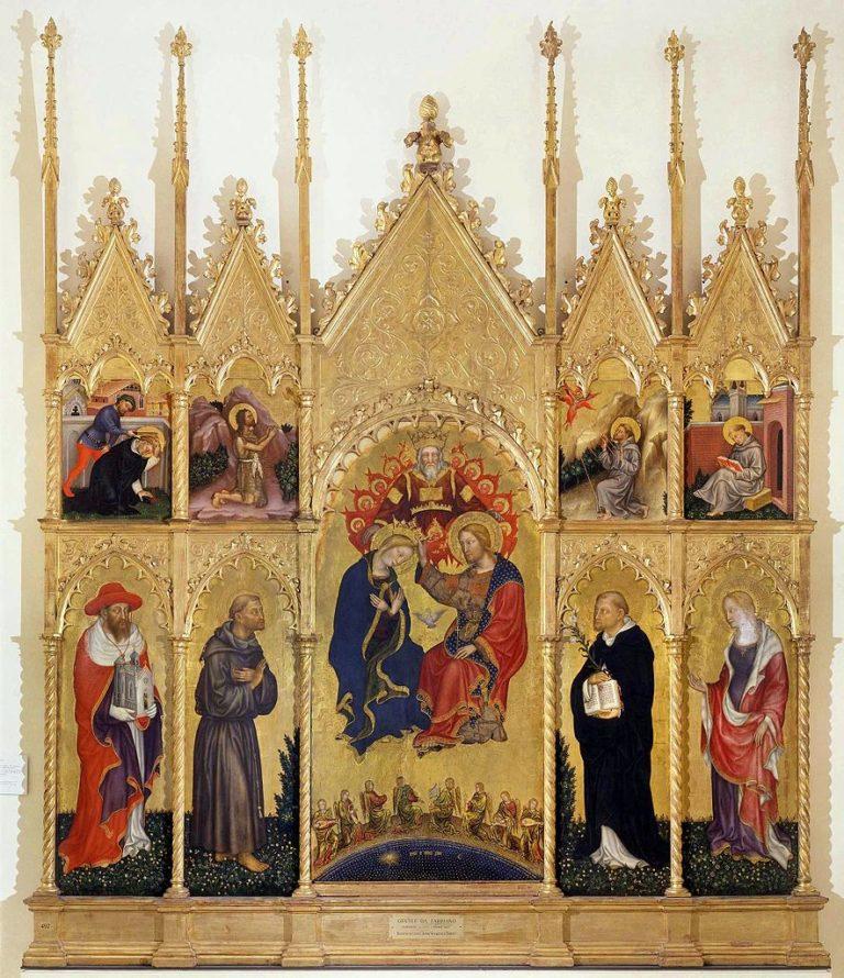 Коронование Марии. Полиптих Валле Ромита. 1410–1412