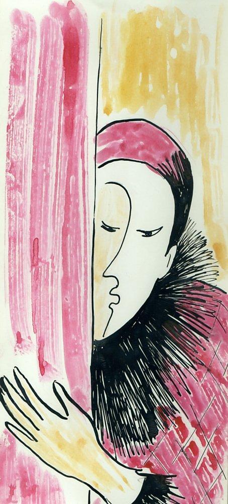 Красное домино. Иллюстрация к роману А. Белого «Петербург». 2009