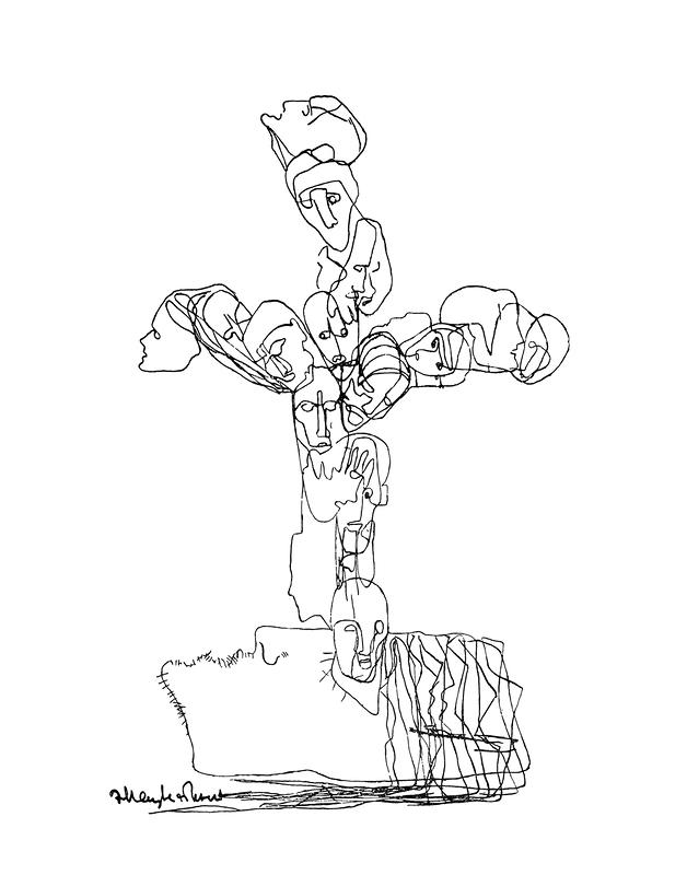 Крест Раскольникова. Иллюстрация к роману Ф. М. Достоевского «Преступление и наказание»