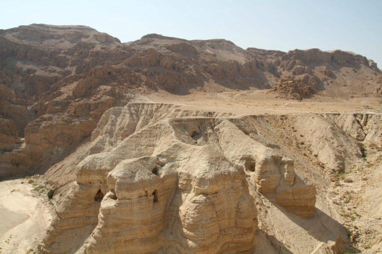 Кумранские пещеры, в которых были обнаружены свитки Мёртвого моря