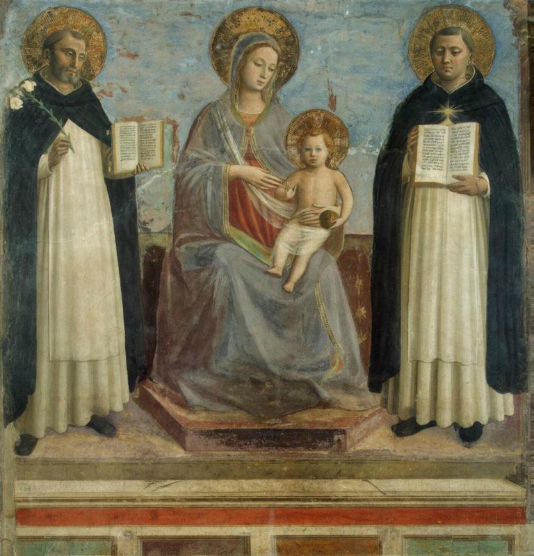 Мадонна с Младенцем, св. Домиником и св. Фомой Аквинским. 1430
