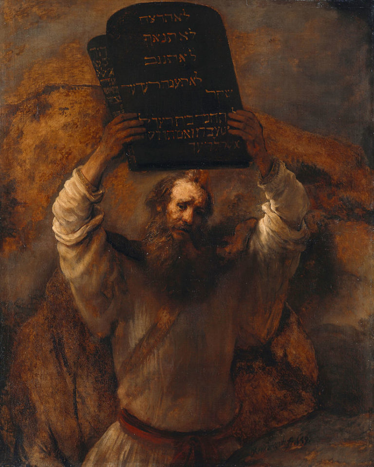 Моисей со скрижалями Закона. 1659