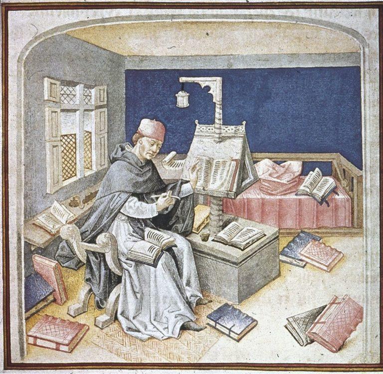 Монах-переписчик. XV в.