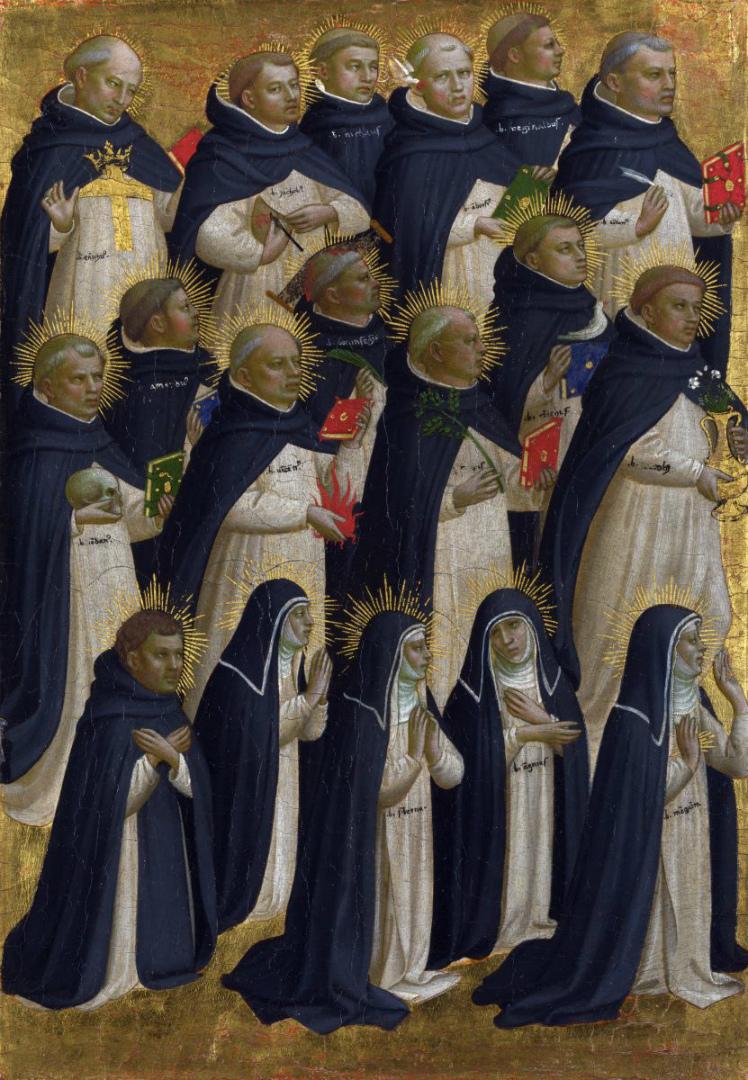 Монахи доминиканского ордена. Алтарь Фьезоле. 1424–1425
