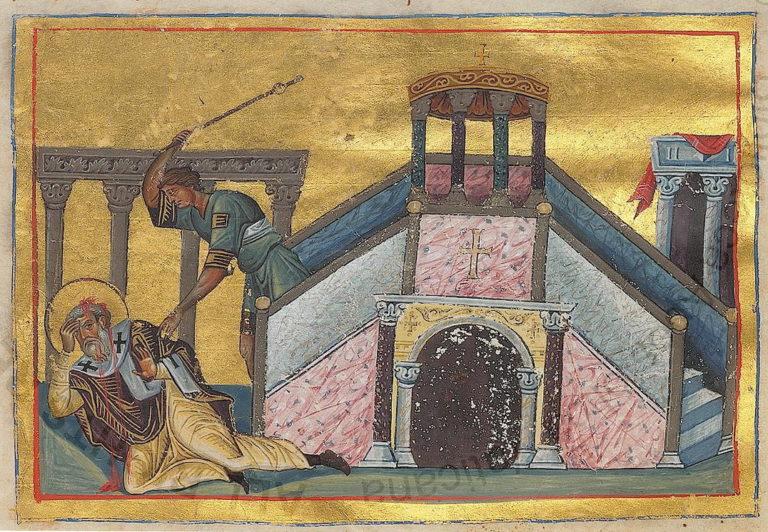 Мученичество апостола Иакова, брата Господня. Ок. 985
