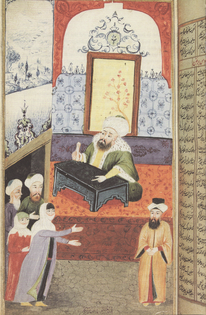 Мусульманский судья рассматривает иск жены против мужа. XVIII в.