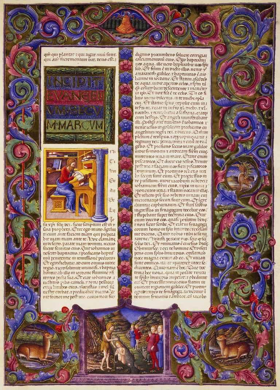 Начало Евангелия от Марка. 1455–1461
