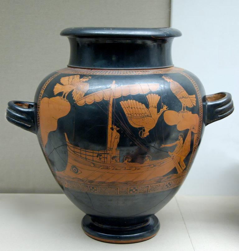 Одиссей и сирены. Аттическая ваза. V в. до н.э.