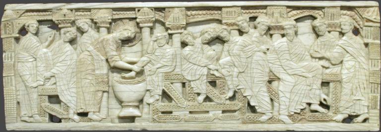 Омовение ног. Италия, 1100