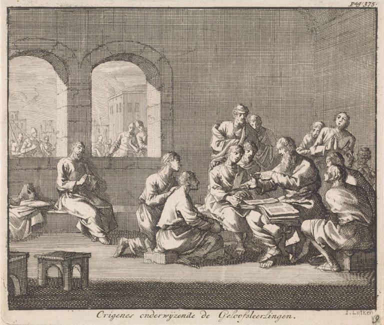 Ориген с учениками. 1700