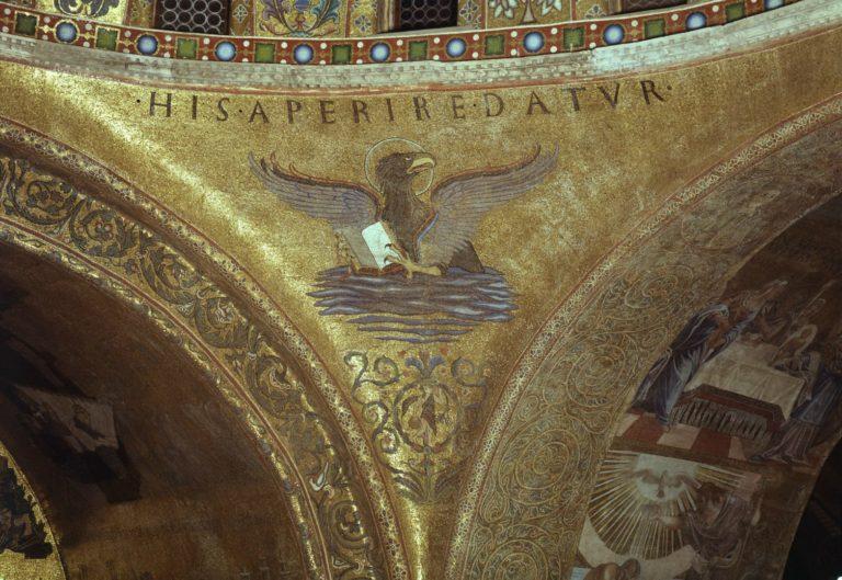 Орёл, символ евангелиста Иоанна Богослова. XII в.