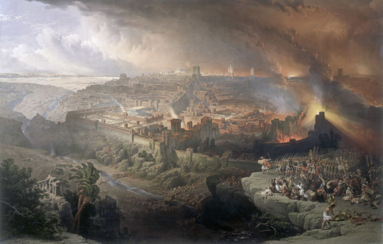 Осада и разрушение Иерусалима римлянами под командованием Тита. 1850