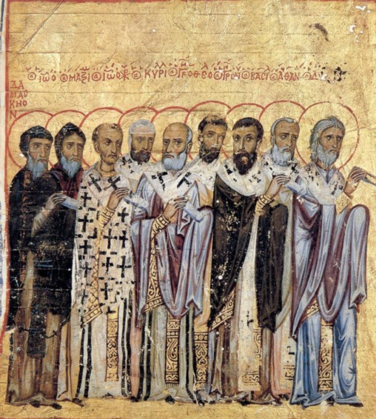 Отцы церкви. Византия, XII в.