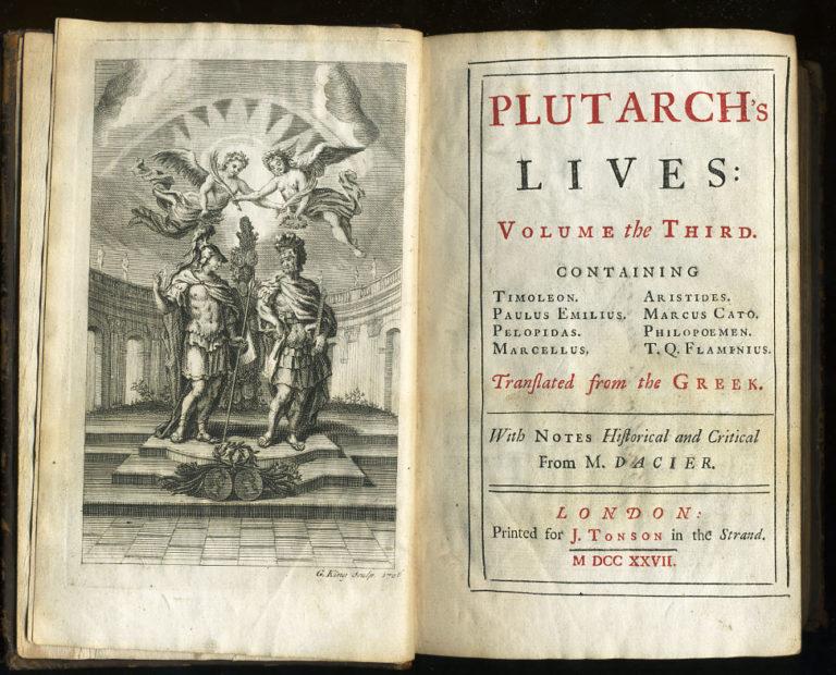 Плутарх. Сравнительные жизнеописания. Т. 3. Лондон, 1727