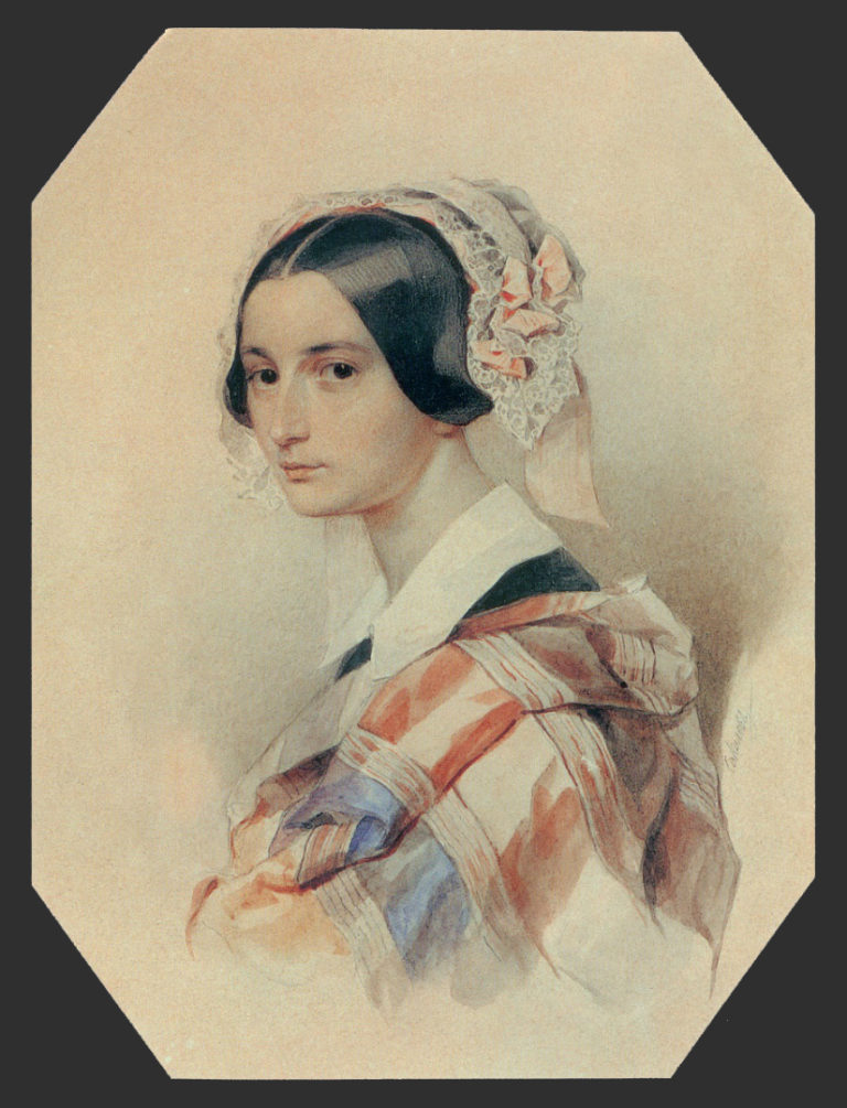 Портрет А.О. Смирновой-Россет. 1834–1835