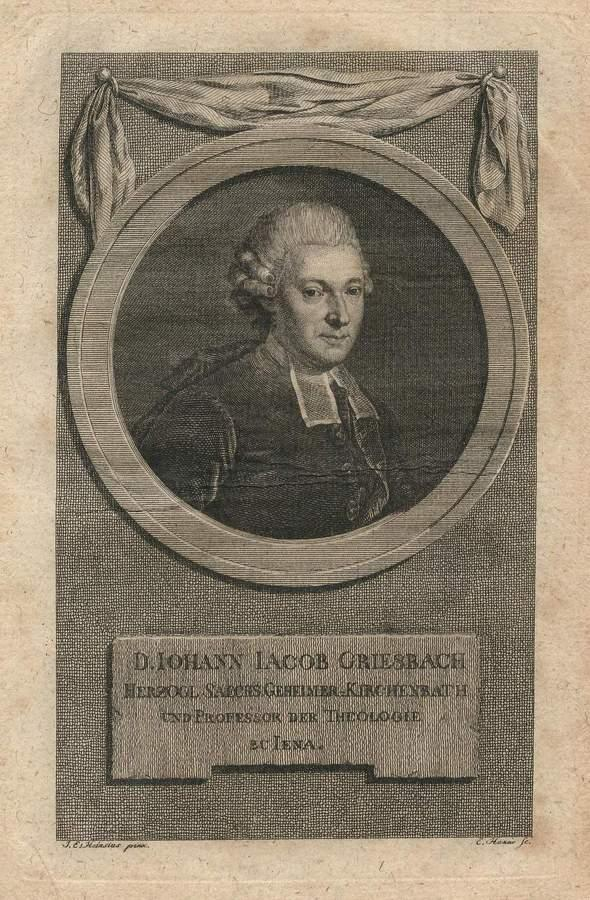 Портрет Иоганна Якоба Грисбаха. Ок. 1780