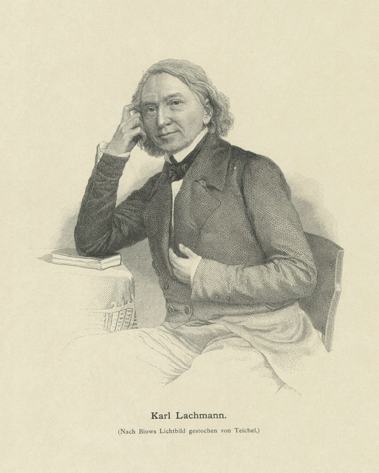 Портрет Карла Лахмана. Ок. 1900