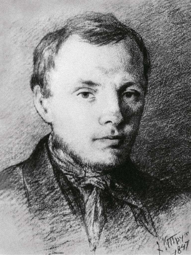 Портрет молодого Ф.М. Достоевского. 1847