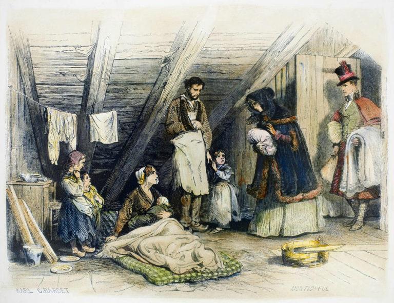 Посещение бедных. 1844