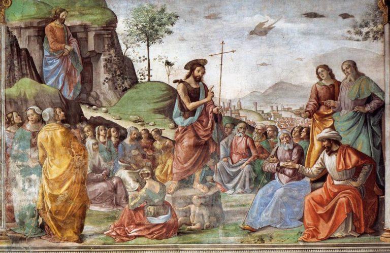 Проповедь Иоанна Крестителя. 1486–1490