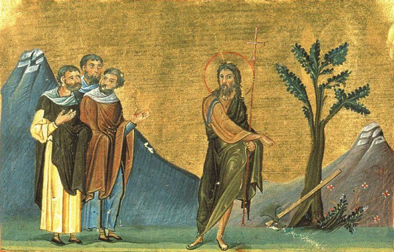 Проповедь Иоанна Крестителя. Византия, кон. X в.
