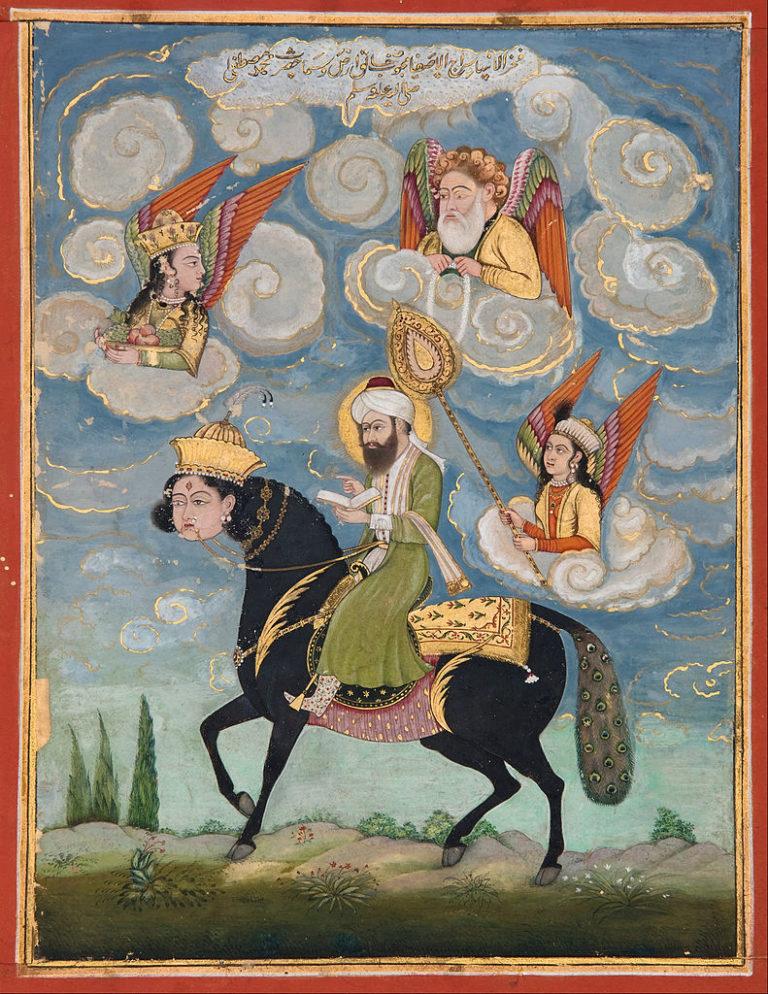 Пророк Мухаммад на Бураке. XVIII в.