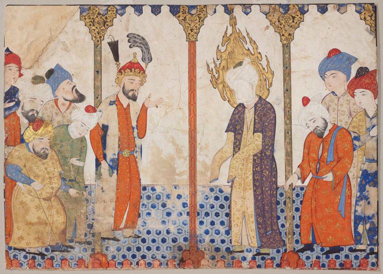 Пророк Мухаммад в мечети. XVI в.