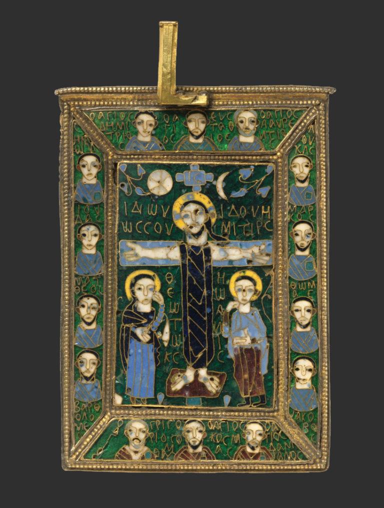 Распятие с Девой Марией и св. Иоанном. Византия, IX в.