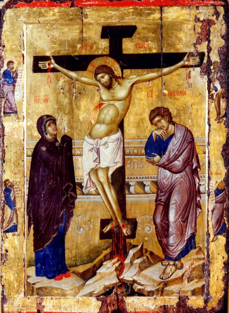 Распятие. Икона. Византия, XIV в.