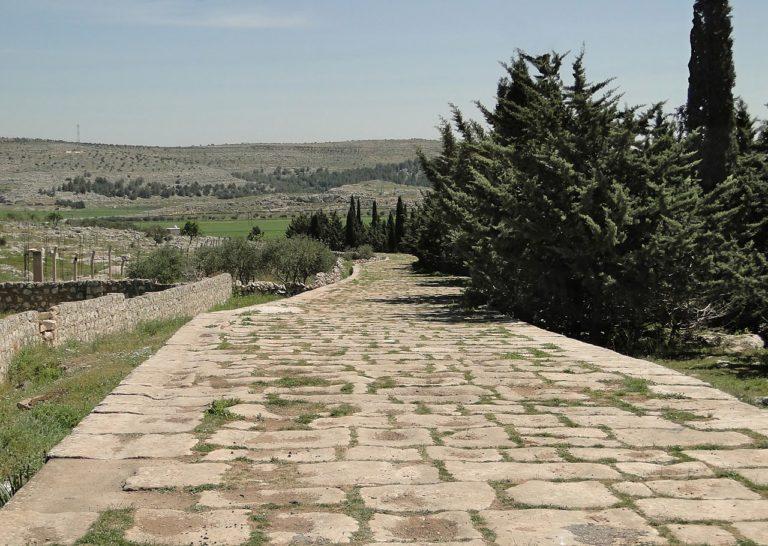 Римская дорога, связывавшая столицу провинции Сирия Антиохию и Халкиду Сирийскую