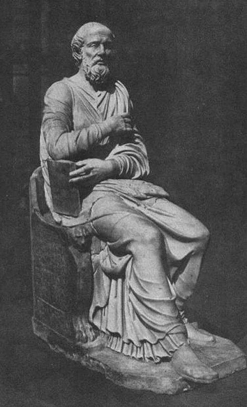 Римская скульптура IV–V вв., обнаруженная на Виа Тибуртина в 1551 году и ранее считавшаяся изображением Ипполита Римского