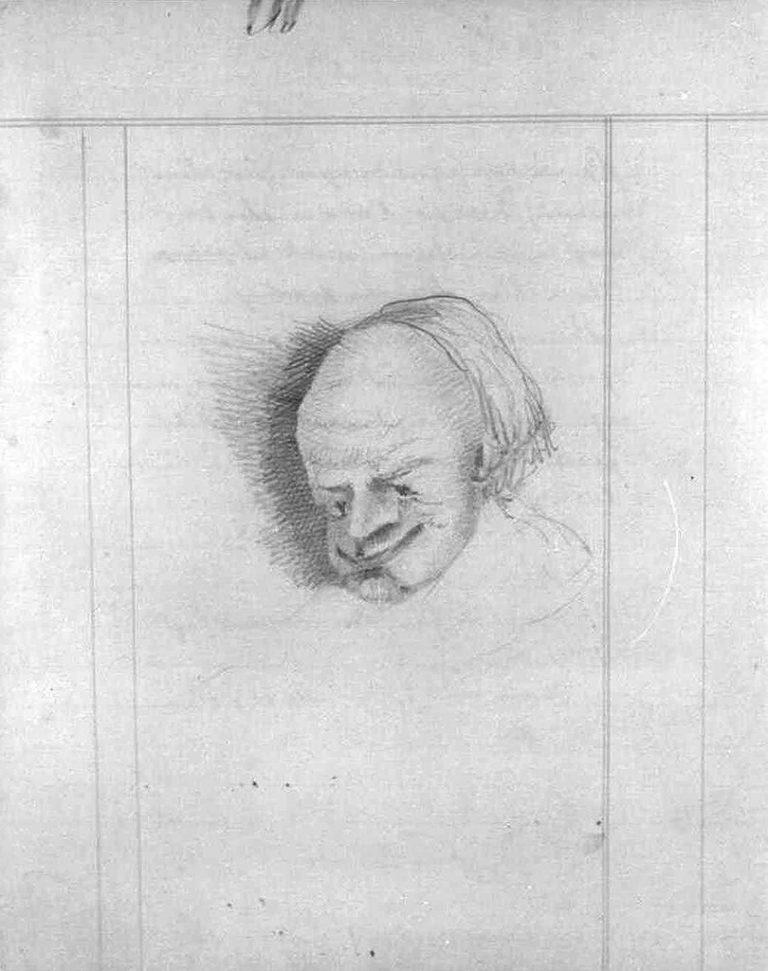 Рисунок Ф. М. Достоевского в подготовительных материалах ранней редакции романа «Идиот». 1867