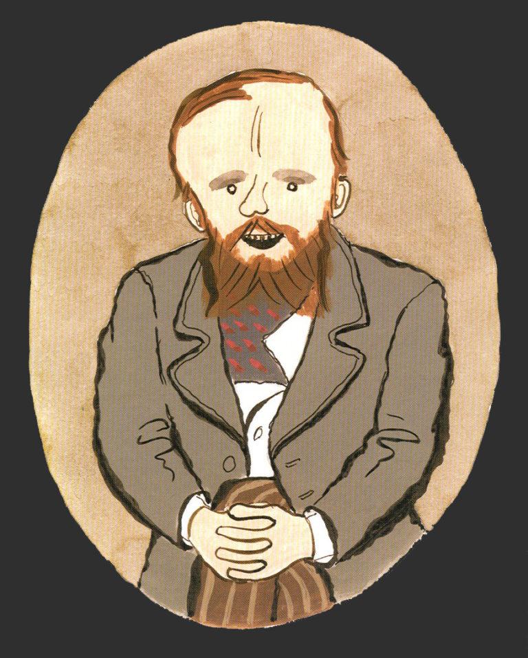 Рисунок из альбома «Достоевский в картинках». 2015