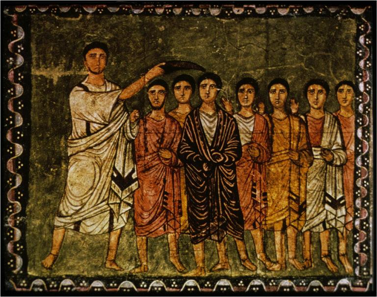 Самуил помазывает Давида на царство. III в. н. э.