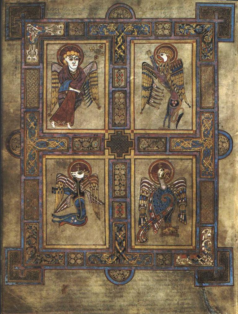 Символы четырёх евангелистов. Ок. 800