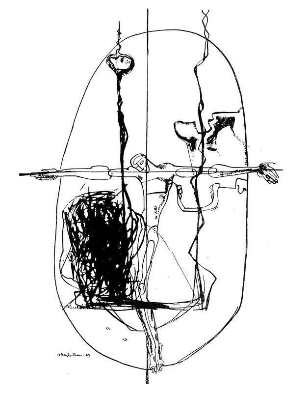Сон. Всеобщее убийство. Иллюстрация к роману Ф. М. Достоевского «Преступление и наказание». 1969