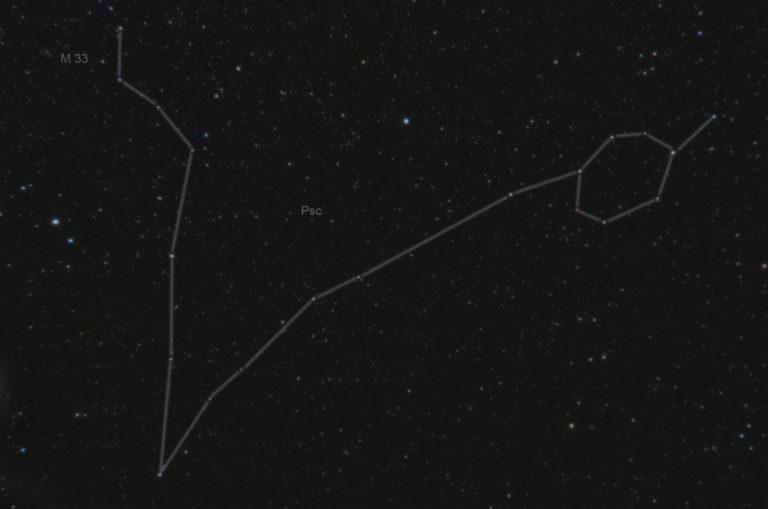 Созвездие Рыбы на звёздном небе