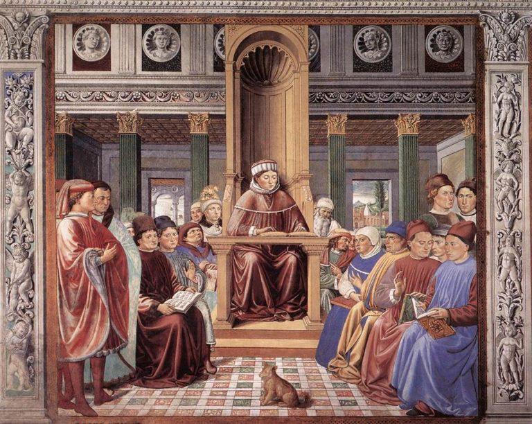 Св. Августин и его ученики. 1464–1465