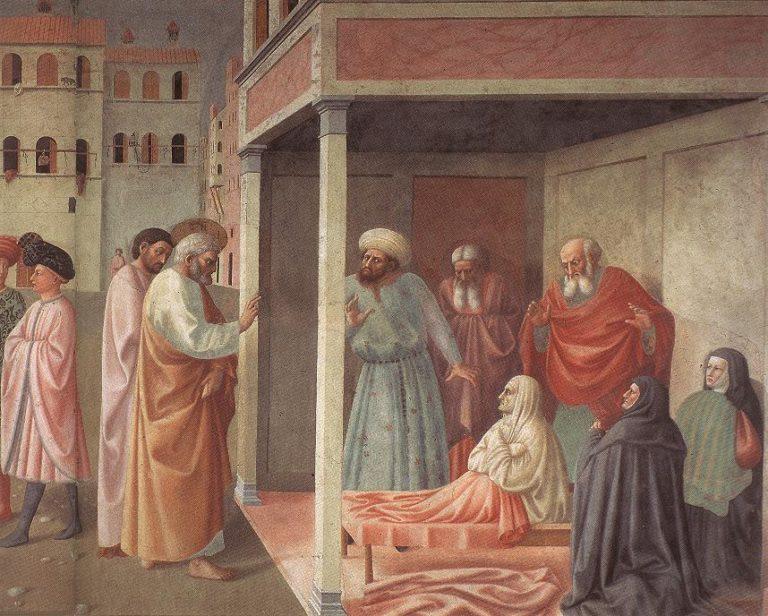 Св. Петр воскрешает Тавифу. Ок. 1427